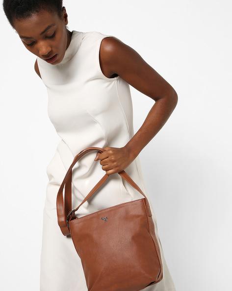 Textured Sling Bag By BAGGIT ( Tan )