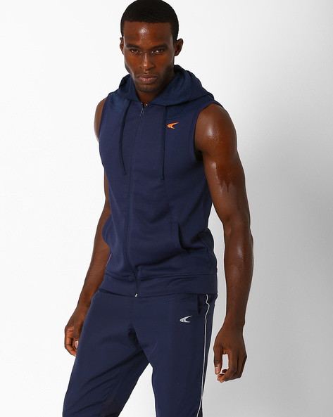 Hooded Regular Fit Jacket With Quick Dry By PERFORMAX ( Navy )