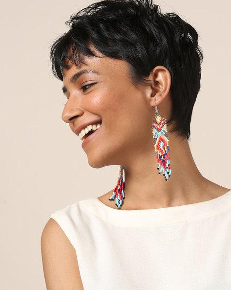 Beaded Dangler Earrings By Indie Picks ( Multi ) - 460189677001