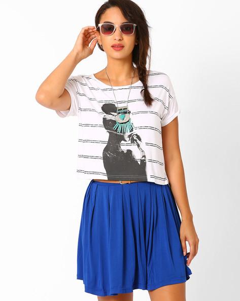 Graphic Print T-shirt By AJIO ( White ) - 460015440002