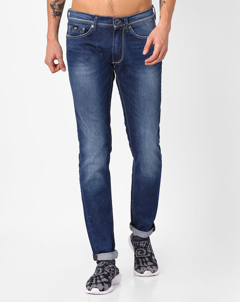 Slim Fit Lightly Washed Jeans By GAS ( Wk79 )