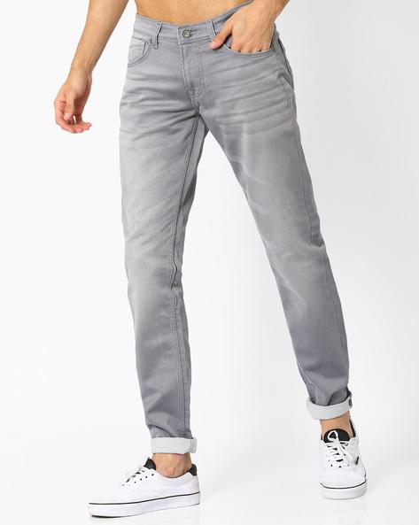 Hazel Slim Fit Lightly Washed Jeans By Killer ( Grey )