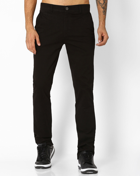 Relaxed Fit Flat-Front Trousers By Fort Collins ( Blue )
