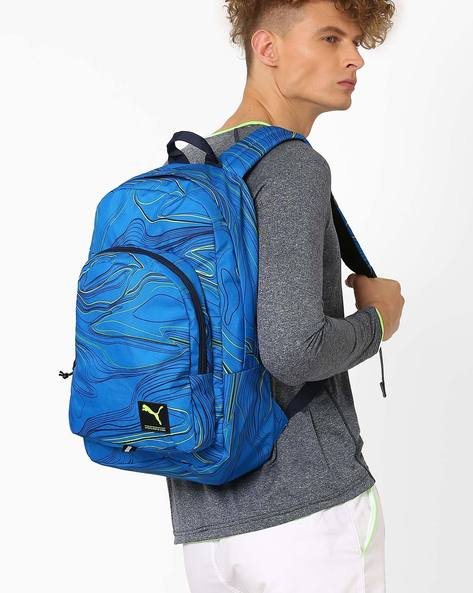 Academy Backpack With Adjustable Shoulder Straps By Puma ( Blue )