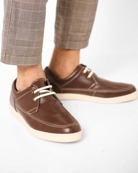 Panelled Lace-Up Shoes By Bond Street By Red Tape ( Brown )