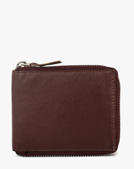 Leather Bi-Fold Wallet By TEAKWOOD LEATHERS ( Wine )