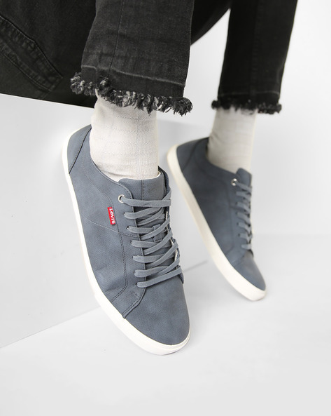 Woods Casual Shoes With Lace-Ups By LEVIS ( Navyblue )
