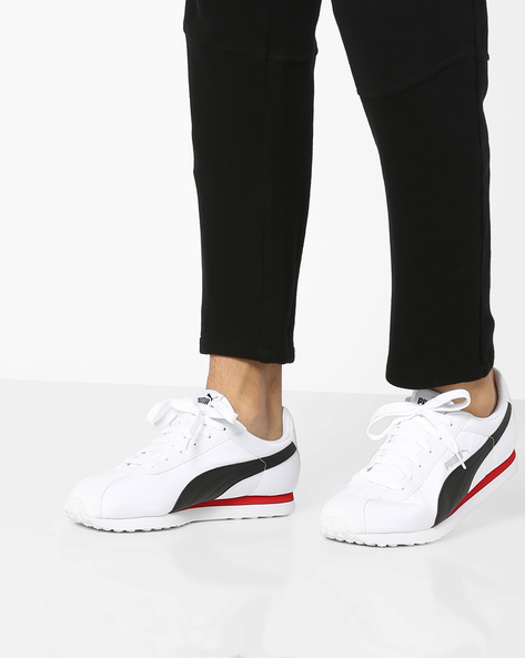 Low-Top Lace-Up Sneakers By Puma ( White )