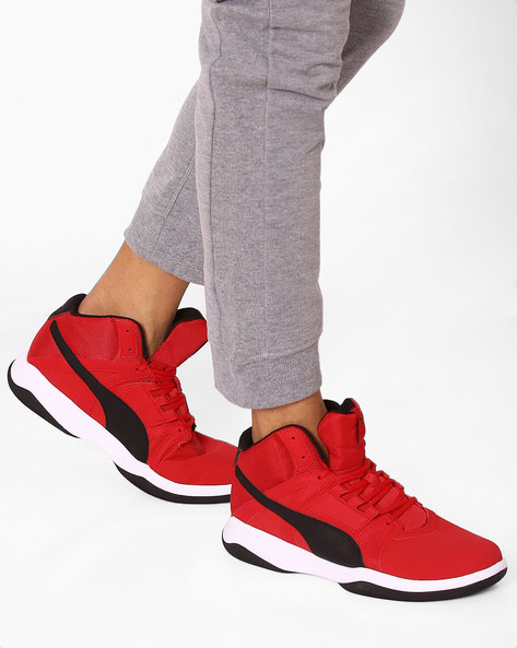 Rebound Street Evo SL Sneakers By Puma ( Cherry )