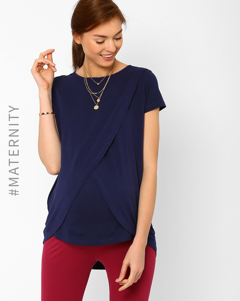 Envelope-Front Nursing Top By AJIO ( Navyblue )