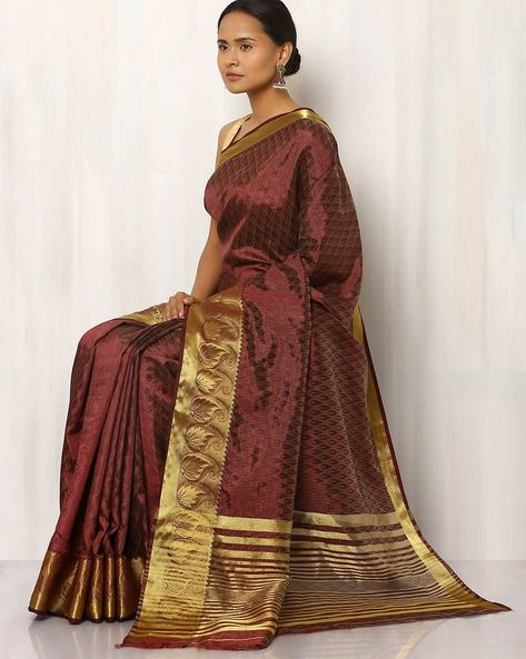 Embossed Design Art Silk Saree By Rudrakaashe-MSU ( Maroon )