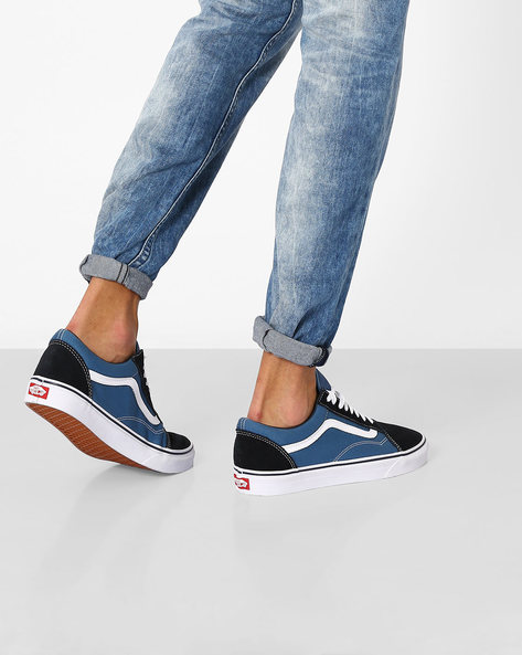 Lace-Up Casual Shoes By Vans ( Blue )