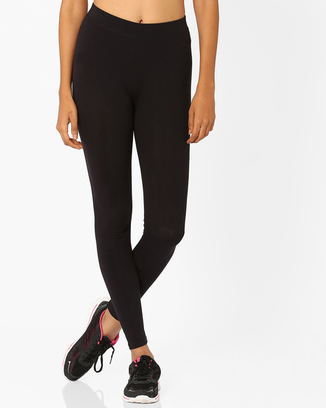 Cotton Leggings By Puma ( Black )