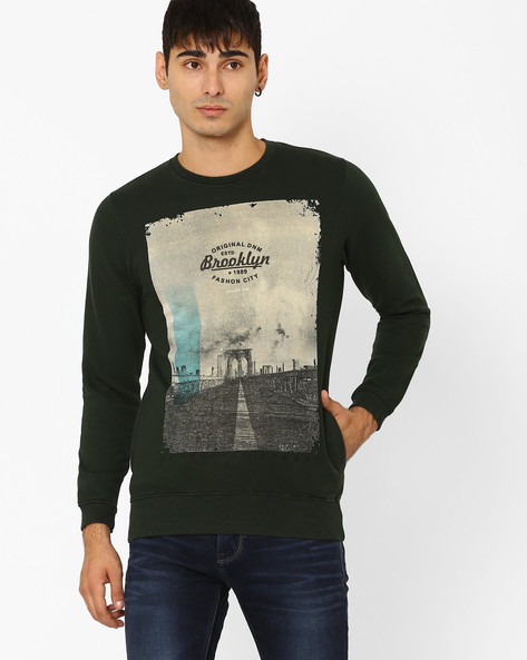 Slim Fit Graphic Print Sweatshirt By Killer ( Assorted )