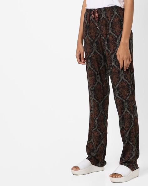 Printed Pyjamas With Elasticated Waist By Heart 2 Heart ( Black )