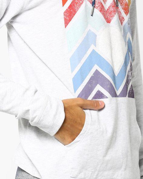 Chevron Print T-shirt With Hood By Aeropostale ( Grey )