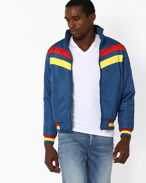 Padded Jacket With Contrast Detail By DUKE ( Navy )