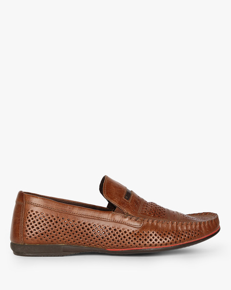 Slip-On Shoes With Cut-Outs By RED TAPE ( Brown )