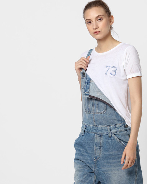 Cotton Crew-Neck T-shirt By Pepe Jeans ( White )
