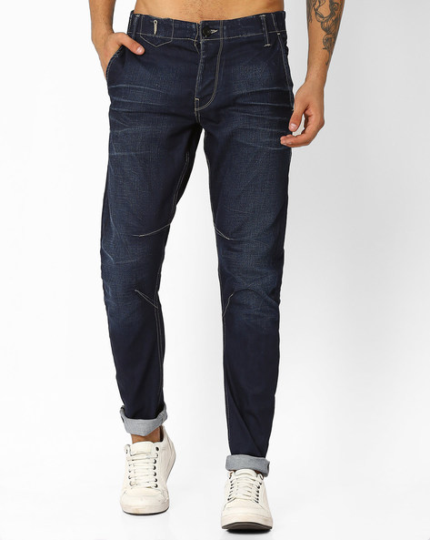Lightly Washed Slim Fit Jeans By VOI JEANS ( Indigo )