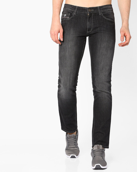 Mid-Rise Slim Fit Jeans By JOHN PLAYERS ( Ltblue )