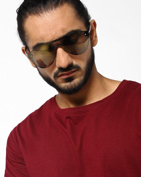 Oversized Full-Rim Sunglasses By DANNY DAZE ( Grey )