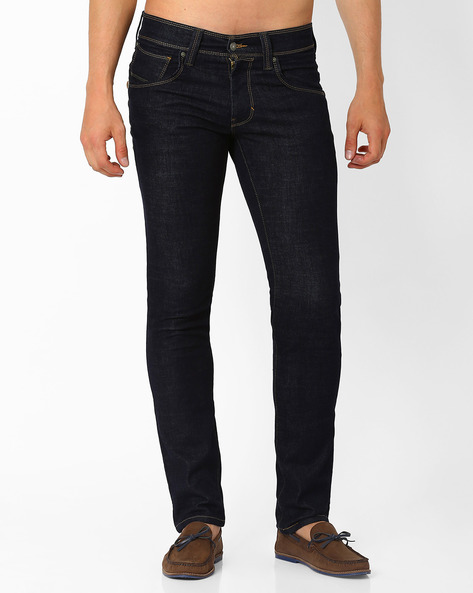65504 Low Rise Skinny Jeans By LEVIS ( Blue )