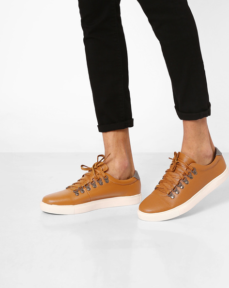Textured Casual Shoes By Carlton London ( Tan )