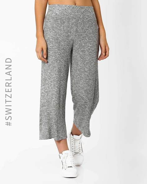 Mid-Waist Knitted Culottes By TALLY WEiJL ( Grey )