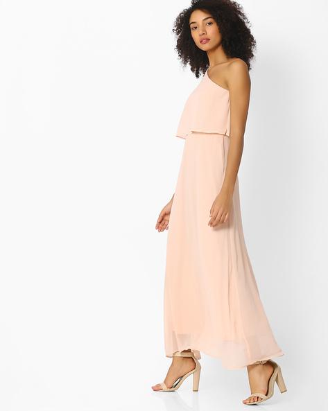 One-Shouldered Maxi Dress By Femella ( Blush )