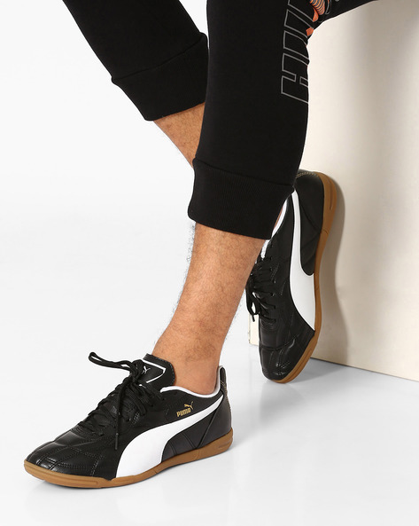 Quilted Lace-Up Sneakers By Puma ( Black )