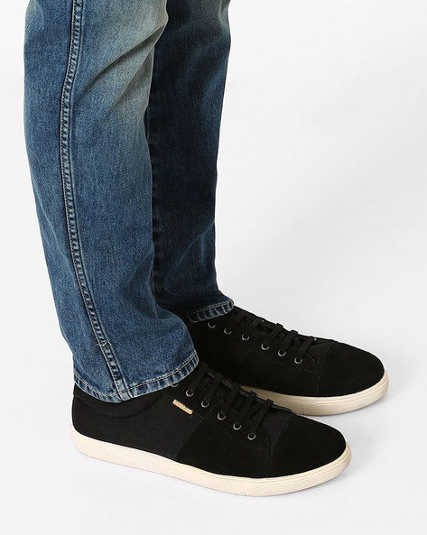 Lace-UP Leather Casual Shoes By USPA ( Black )