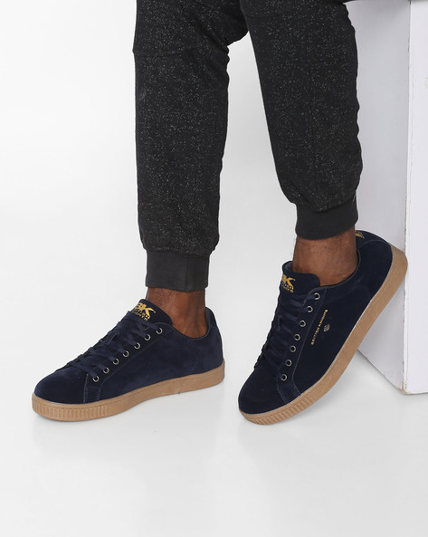 Suede Casual Shoes By British Knights ( Navy )