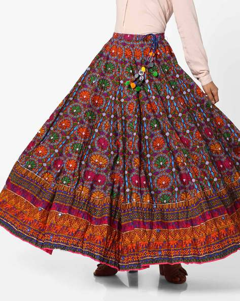 Printed Skirt With Drawstring Waist By Biba ( Multi )