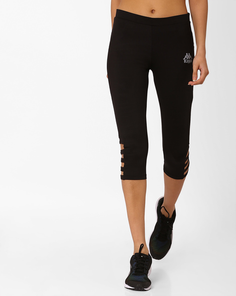 Capris With Cut-Out Detail By KAPPA ( Black )