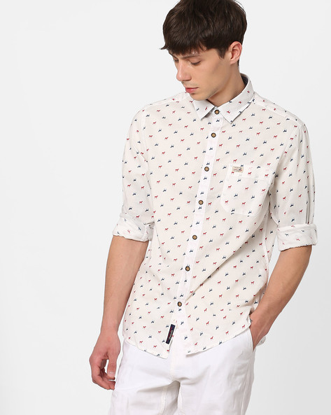 Printed Shirt With Curved Hem By US POLO ( Assorted )