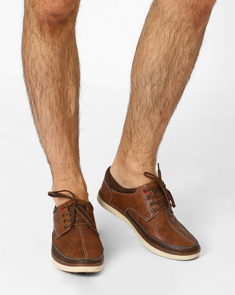 Casual Shoes With Lace-ups By BUCKAROO ( Tan )