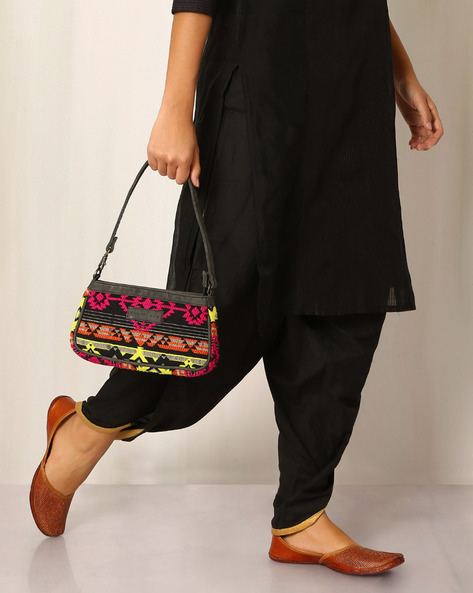 Cotton Jacquard Kilim Sling Bag By Twinology ( Multi )