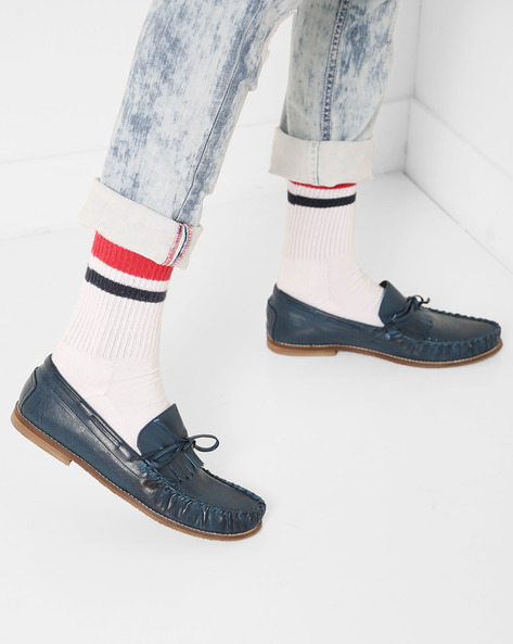 Low-Top N9-Treated Slip-On Shoes By AJIO ( Navy )