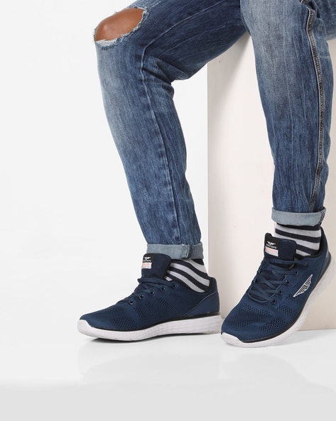 Perforated Lace-Up Running Shoes By RED TAPE ( Blue )