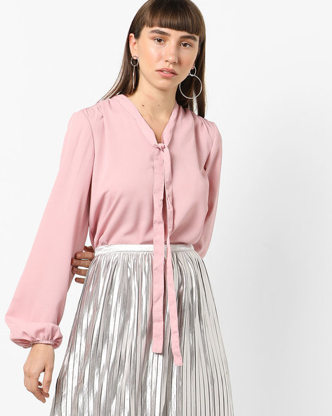 Shirt Top With Tie-Up By Vero Moda ( Fleshpink )