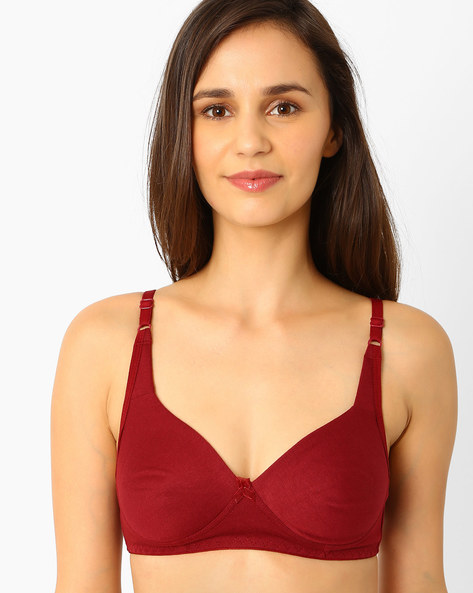 Cotton Non-Padded Bra By Clovia ( Maroon )