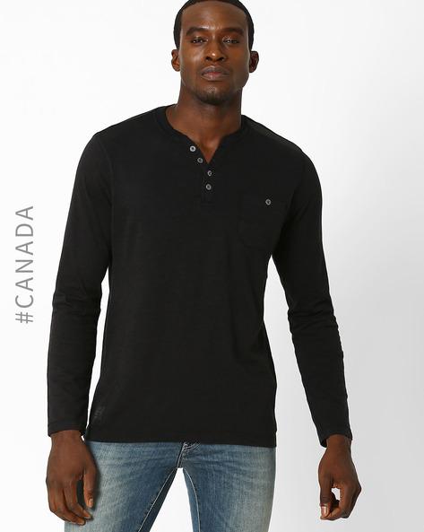 Slub Knit Slim T-shirt By Point Zero ( Black )