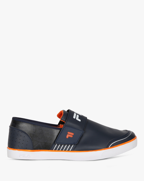 Rock In Textured Slip-On Shoes By FILA ( Nvyorn )