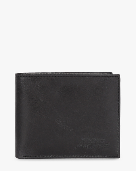 Genuine Leather Bi-Fold Wallet By FLYING MACHINE ( Navy )