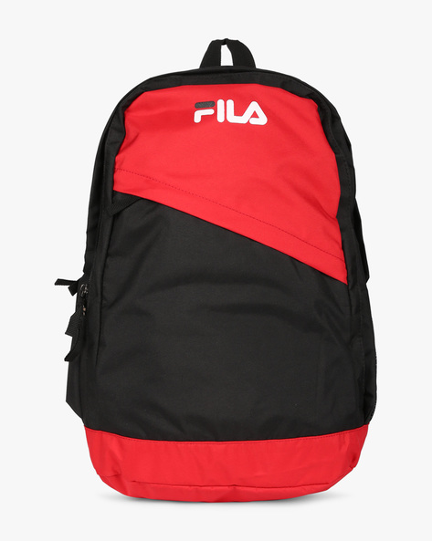 Colourblock Backpack With Adjustable Straps By FILA ( Black )