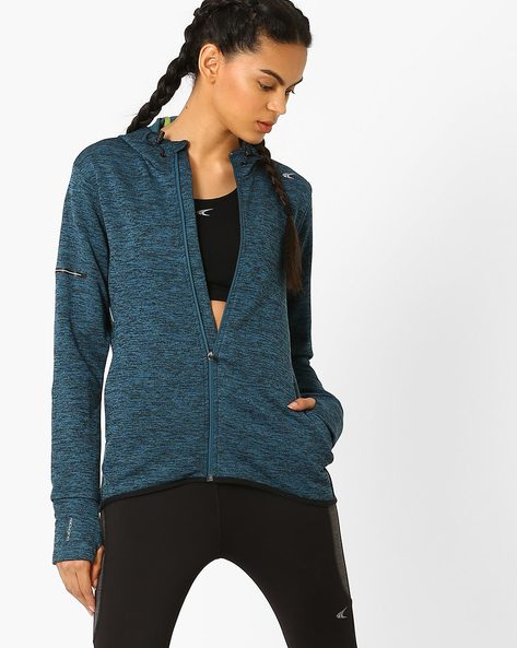 Fitness Knit Jacket With Quick Dry By PERFORMAX ( Dkgreen )