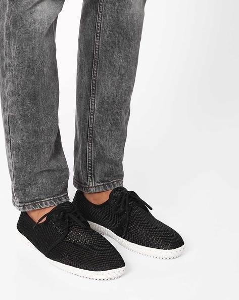 Mesh Casual Shoes By Muddman ( Black )