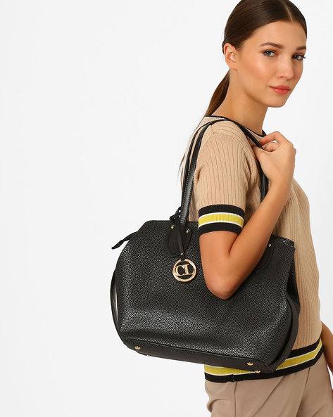 Shoulder Bag With Sling Strap By Carlton London ( Black )