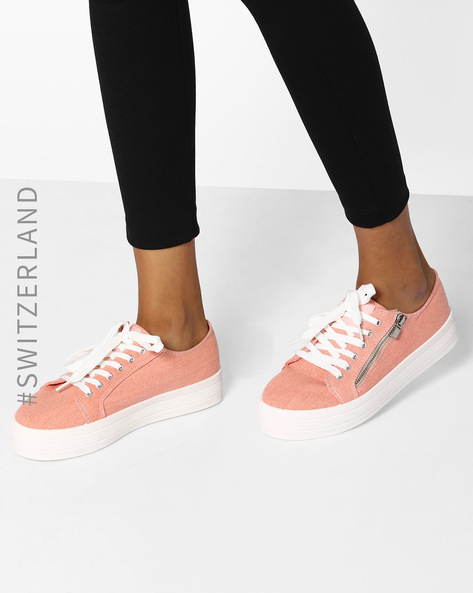 Lace-Up Casual Shoes By TALLY WEiJL ( Pink )